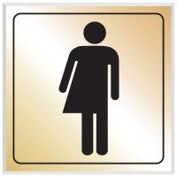 Unisex Symbol - Engraved Graphic Restroom Signs