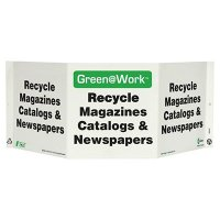 Various Papers Tri View Recycling Sign