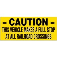 Caution Railroad Crossing Vehicle Warning Labels