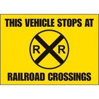Railroad Crossing Vehicle Warning Labels