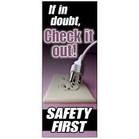 Check It Out Safety First Banner