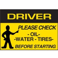 Driver Check Label