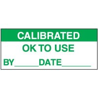 Calibrated OK to Use Label