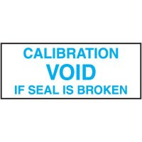 Void Calibration Label