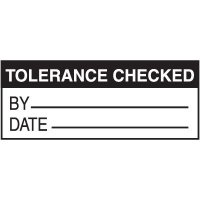 Tolerance Checked Label