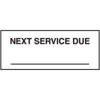 Next Service Due Label