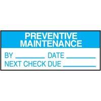 Preventive Maintenance Label