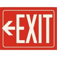 Photoluminescent Arrow Left Exit Sign