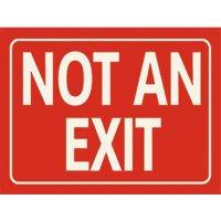 Photoluminescent Not An Exit Sign