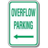 Visitor Parking Signs - Overflow Parking (Left Arrow)
