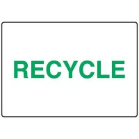 Visual Workplace Recycling Signs - Recycle