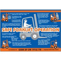 Safe Forklift Operation Wallchart
