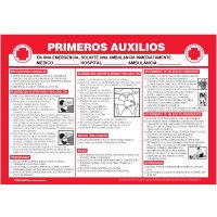 Spanish Emergency First Aid Wallchart