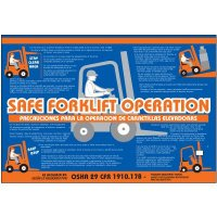 Bilingual Safe Forklift Operation Wallchart