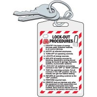 Lock-Out Procedures Key Chain