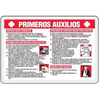 Spanish First Aid Wallet Card
