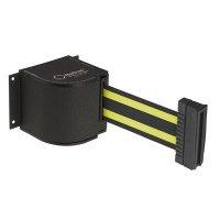 Beltrac® Wall-Mount Retractable Belts - Yellow/Black Belt