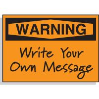 Warning Header Only - Hazard Warning Labels