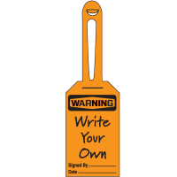 Warning Header Only - Lock-On Safety Tags