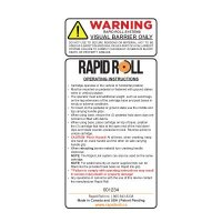 Warning Visual Barrier Only - RapidRoll Warning Label