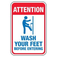 Wash Your Feet Before Entering - Pool Signs