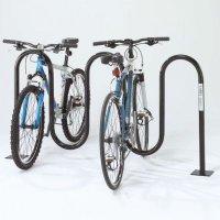 Wave Bicycle Racks - Flange Mount