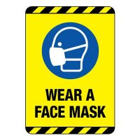 Wear A Face Mask Construction Site Sign