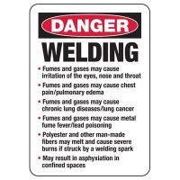 Danger Welding Safety Sign