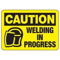 Caution Welding In Progress Sign