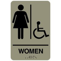Women (Accessibility) - Economy Braille Signs