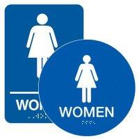 Women - California Code Economy Restroom Signs