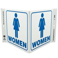 Women Restroom V-Style Sign