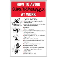 Avoid Slips, Trips & Falls Wallchart