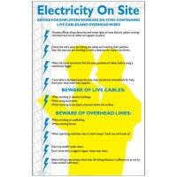 Electricity On Site Workplace Wallchart