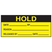 Write-On Action Labels - Hold Date