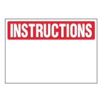 Write-On Chemical Labels - Instructions