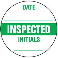 Write-On Inspection Label