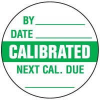 Calibrated Write-On Label