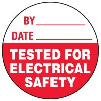 Electrical Safety Write-On Label