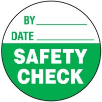 Safety Check Write-On Label
