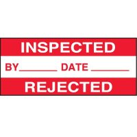 Inspected/Rejected Status Label
