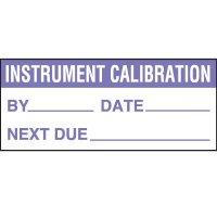 Instrument Calibration Status Label