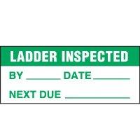 Ladder Inspected - Ladder Inspection Label
