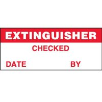 Extinguisher Checked Label
