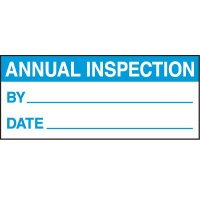 Annual Inspection Status Label