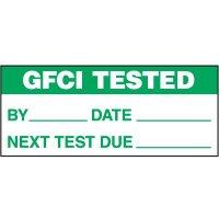 GFCI Tested Status Label