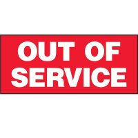 Out Of Service Status Label