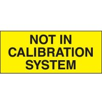 Not In Calibration System Status Label