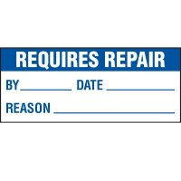 Requires Repair Status Label