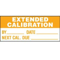 Extended Calibration Status Label